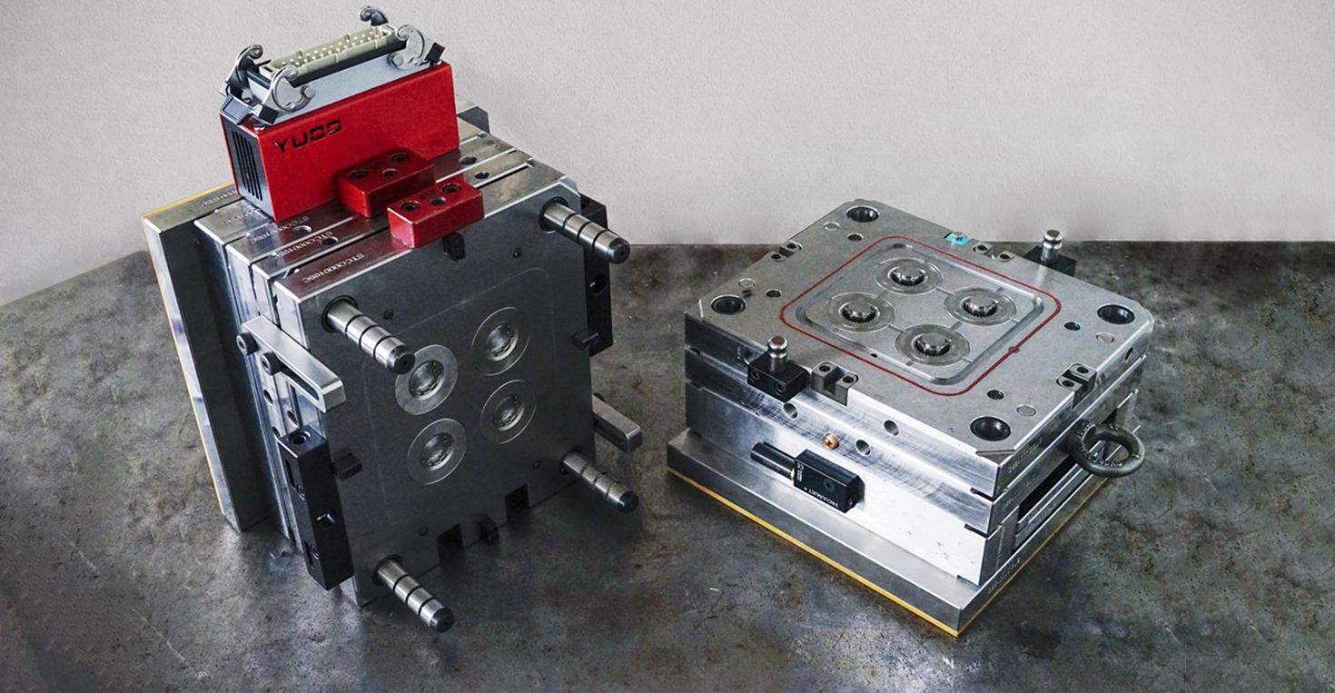 Konstruktion von Formen und Kunststoffkomponenten