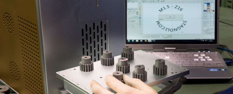 Marcatura laser a fibra ottica
